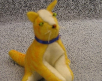Cat- Buff Tiger Sewn Wool Felt - ships for FREE in the US