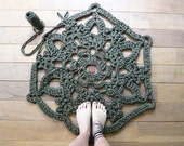 doily bath rug army green RESERVED for the Dutch Designer Week, Eindhoven