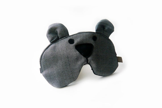 eyemask bear grey adjustable night mask MTO