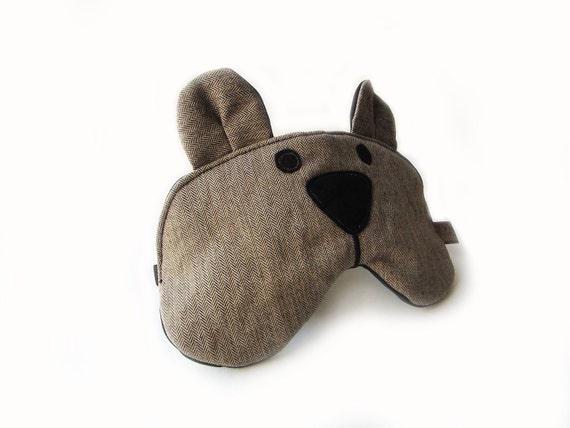 eyemask bear brown adjustable MTO