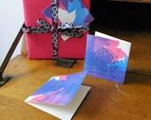 Fuchsia II - Gift Tags or Mini Thank You Cards- Set of 6