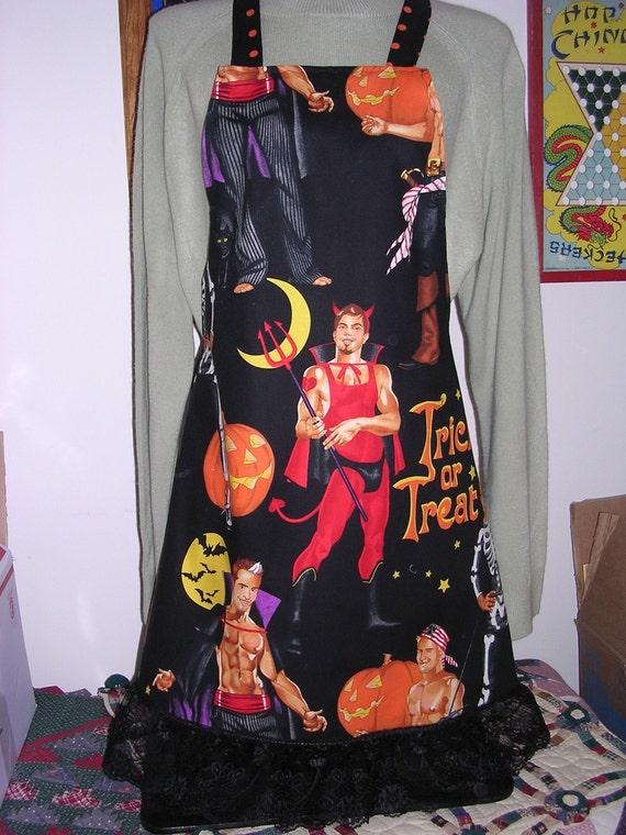 Apron Halloween Hunky Man