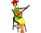 Banjo Pickin' Girl - Cards & Envelopes (Set of 4) 5x7