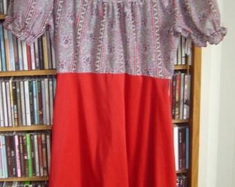 SALE 60's Mod Paisley Print Mini Dress S/XS