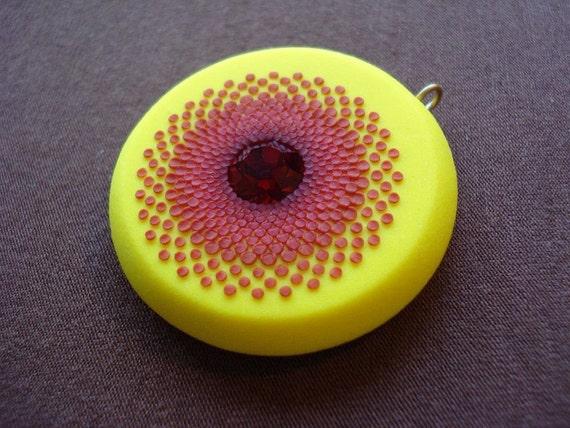 PIF- crimson sunshine pendant