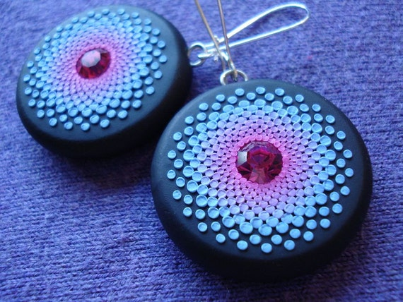 fuchsia sky earrings