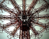 Coney Island Parachute Drop Art Photo