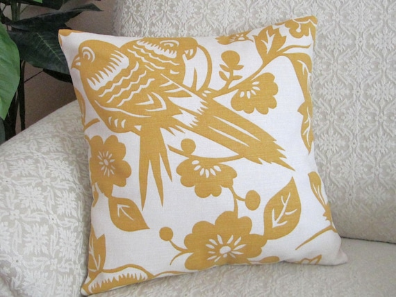 decorative throw pillow cover mustard yellow by. Black Bedroom Furniture Sets. Home Design Ideas