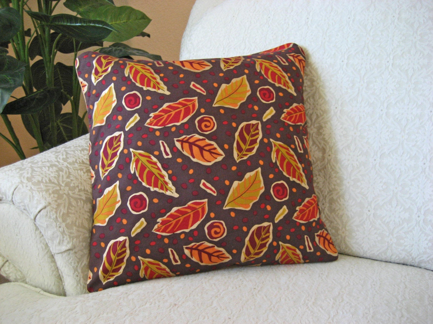 Eggplant Colored Throw Pillows : Fall Autumn Throw Pillow Cover Mustard Yellow Eggplant Purple