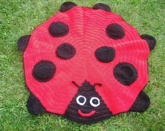 Crocheted Made To Order Ladybug Blanket