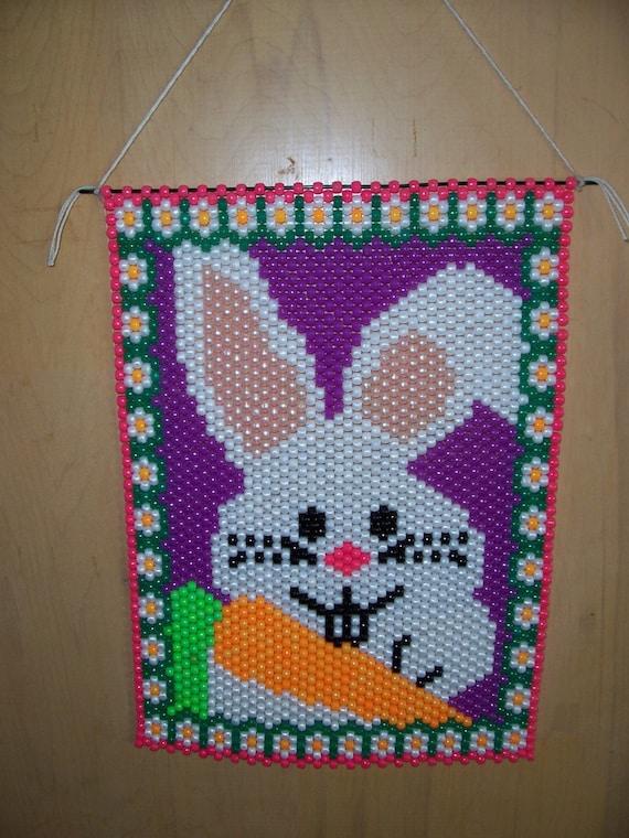 listing for debbie easter bunny beaded banner