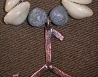 copper pendant trefot symbol