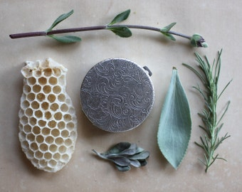 Chaparral Solid Natural Perfume Round Compact - Wild Wood and Sage - A Unisex, Cowboy Fragrance - Natural History of the California Woodland