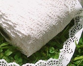 Lace Off White Cream 5 Yards 1 inch Scalloped
