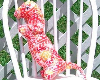 Dachshund Batik Flannel Yellow Orange Pink Red Adult Toy Stuffed Dog Doxie