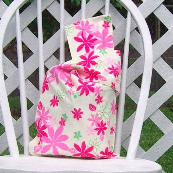 Reusable Lunch Bag Medium Pink Floral Aloha Print