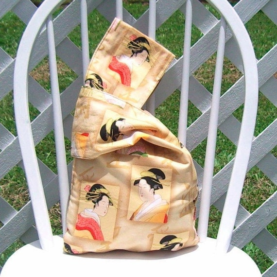 Reusable Lunch Bag Medium Asian Design