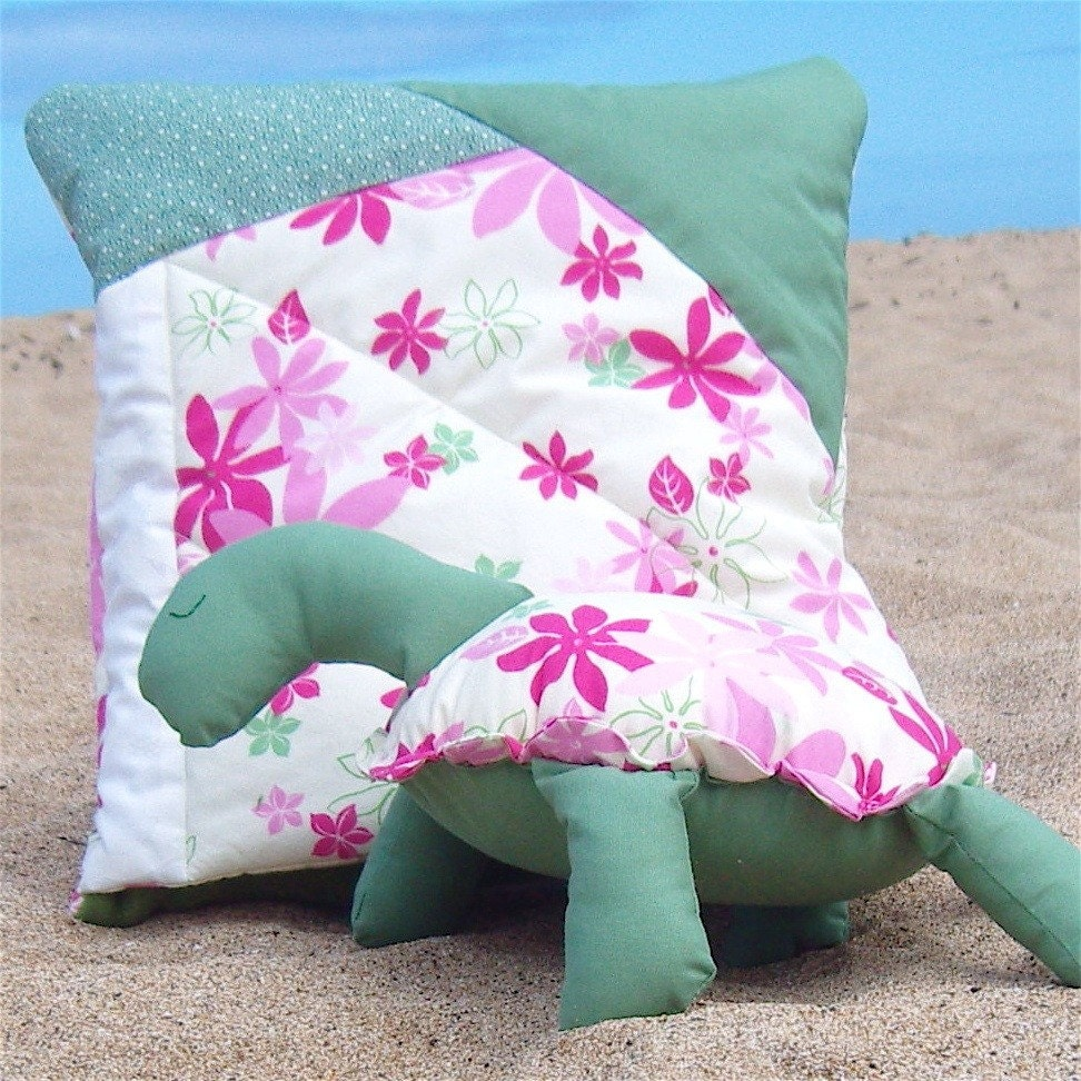 Animal Pillow Blanket : Turtle Kwilt Set Pillow Blanket and Stuffed Animal Pink Aloha
