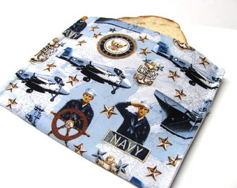 Eco Reusable Sandwich Bag -  United States Navy -  Large Size - Lunch Sack - Armed Forces - Ready to Ship