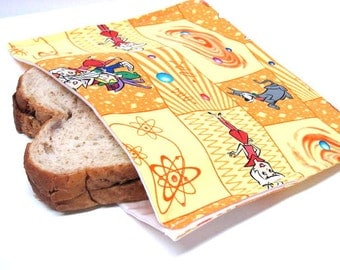 ReUsable Eco Friendly Sandwich Bag Classic Carton The Jetsons Eco Friendly Lunch Kit Saturday Morning Cartoons