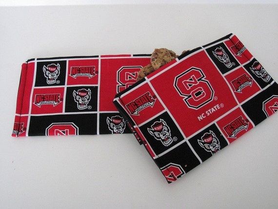 NC State Wolfpack ReUsable Eco Friendly Snack Bag Set