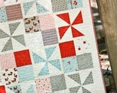 RESERVED FOR CHERYL - A Walk In The Woods Pinwheel Baby Quilt