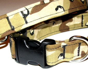 Desert Camo Dog Collar - Size M