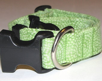 Juicy Lime Dots Dog Collar - Size L
