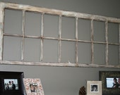 Old Flaky Repurposed Window Frame Wall Art