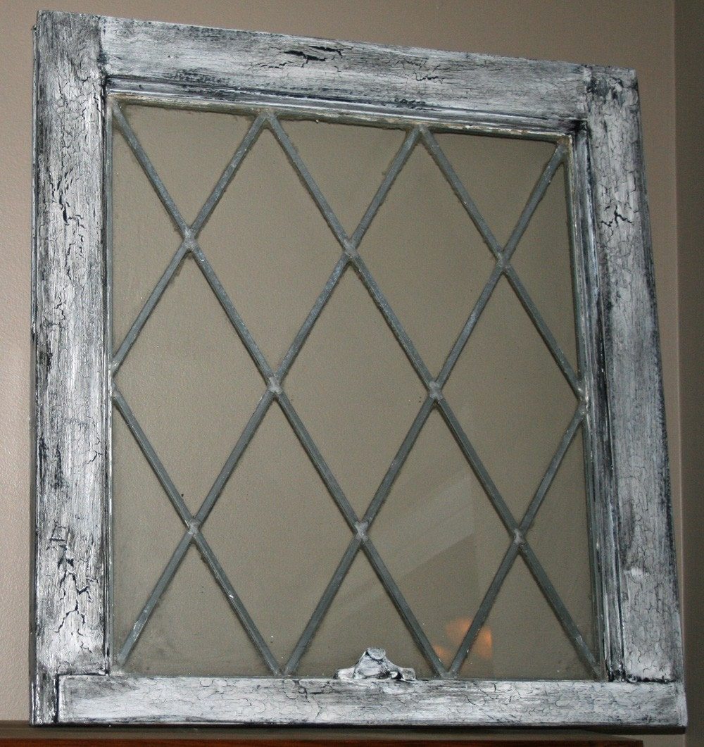 Two vintage lead glass window frames for 2 pane window