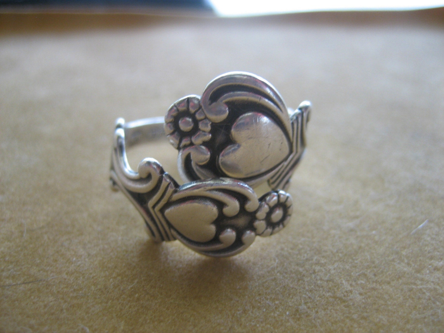 Vintage 925 Sterling Silver Avon Spoon Ring By Kinvintage