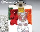 Gummy Bears candy - Scrabble Tile Pendant Jewelry