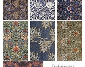 Pattern, Backgrounds V - William Morris - Digital Collage Sheet 230 -  Direct Download