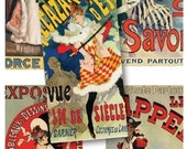 1 x 2 Inch Domino Tiles - Vintage French Advertising - Digital Collage Sheet 675