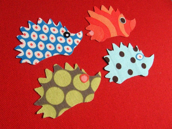 Mini Hedgehog Applique Iron-On Patches