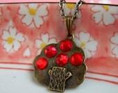Apple Tree Necklace, Tree Pendant, Antique Brass Chain