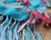 Handwoven Scarf Cottage Water Lilies I