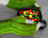 Fingerless Mitts Bright Day