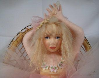 Pressed Felt Doll by Debbie Richmond OOAK Ballerina 1