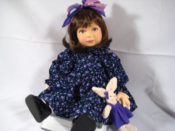 Darla an Original Pressed Felt Doll by Debbie Richmond