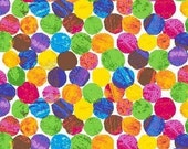 The Very Hungry Caterpillar Fabric Dots in Multi 1/2 Yard
