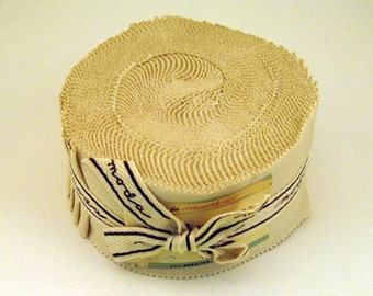 Moda Jelly Roll Quilting Strips in Natural