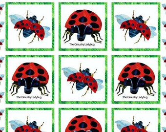 Eric Carle Fabric The Very Grouchy Lady Bug Fabric Panel