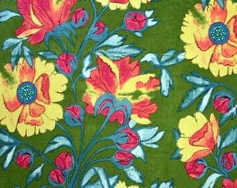 Poppy Fabric Gypsy Vine  in Olive 1/2 yard by Laura Gunn for Michael Miller Fabrics