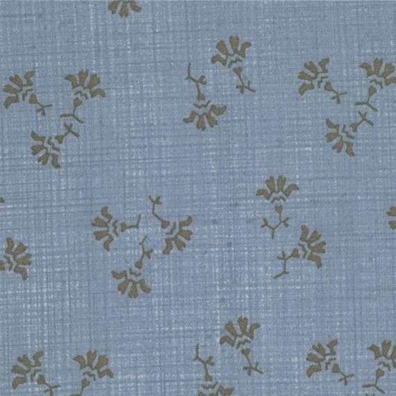 French General Rural Jardin Juniper in Denim for Moda Fabrics 1.5 Yard Piece