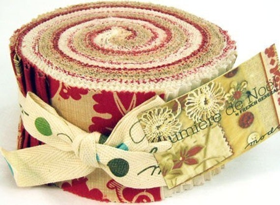 Christmas Fabric Jelly Roll Lumiere De Noel By French General