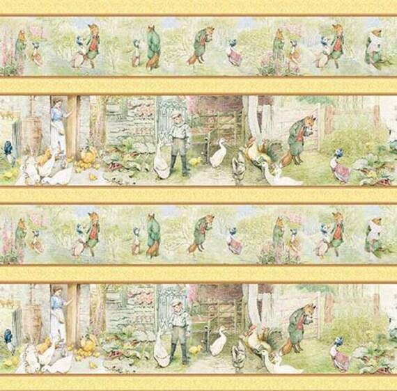Beatrix Potter Fabric Jemima Puddle Duck Stripe 1 Yard