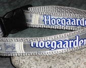 Adjustable Dog Collar from Recycled Hoegaarden Beer Labels