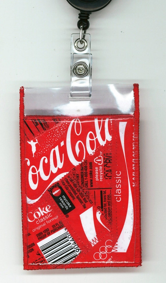Id Lanyard From Repurposed Coca Cola Bottle Wrappers Neck
