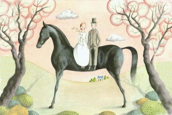 Black Horse (print)